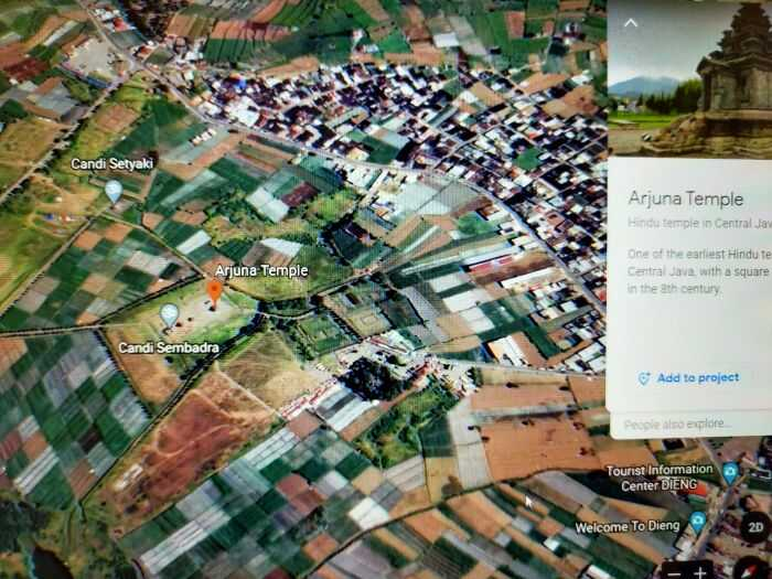 google earth percandian dieng